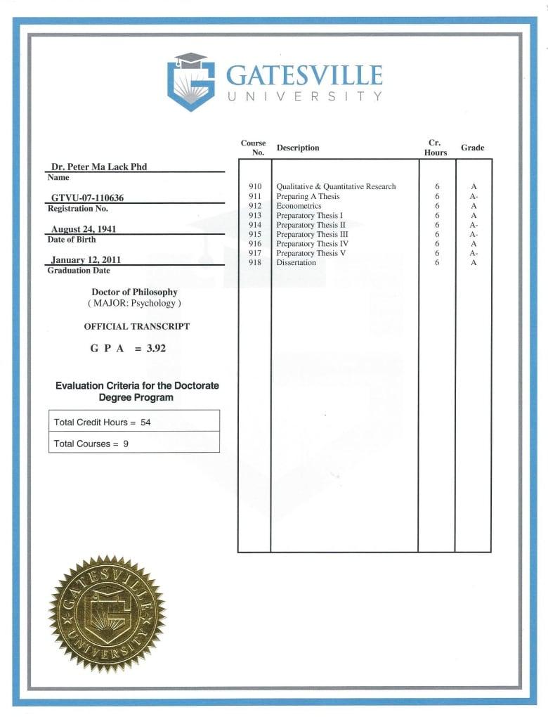 Buy fake Vatterott College diploma