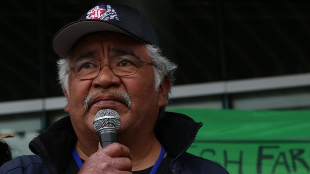 Chief Willie Moon has occupied salmon farms in the past, and says the Musgamagw Dzawda'enuxw is prepared to do whatever it takes to close fish farms along the coast.