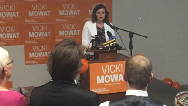 Vicki Mowat was elected in Thursday's byelection in Saskatoon Fairview.