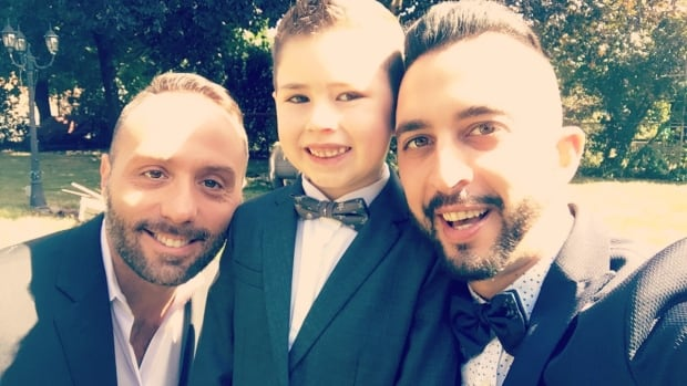 Marco Rodrigues, his partner and his son
