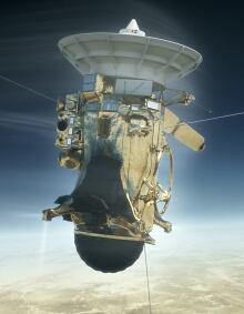 Cassini entering atmosphere
