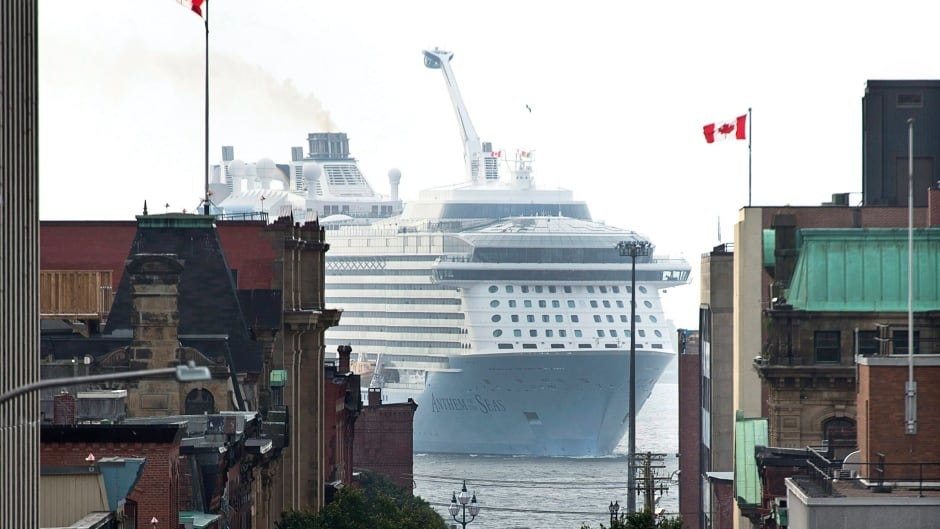 The cruise ship MS Anthem of the Seas (which was not included in the NABU report), operated by Royal Caribbean International, arrives in Saint John, N.B.
