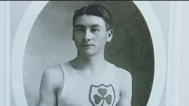 Alex Decoteau, shown in a photo from 1912, when he represented Canada at the Olympic Games in Sweden.