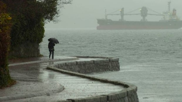 Environment Canada says heavy rain and snow will come down in several parts of the province starting in the evening on Saturday, Nov. 18, 2017.
