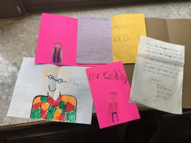 Letters from Jay Keddy's students