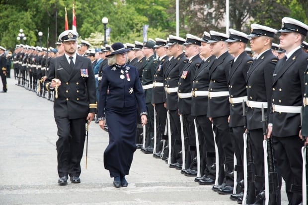 Lieutenant-Governor Judith Guichon arrives for B.C. NDP Throne Speech