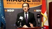 Windsor West NDP MP Brian Masse