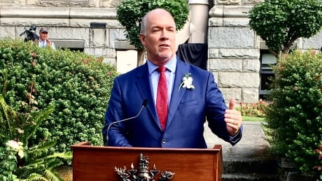 John Horgan reacts to Speech from the Throne