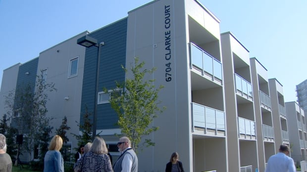 Following months of delay, Clarke Court, an affordable-housing project in southwest Calgary, was opened Saturday.
