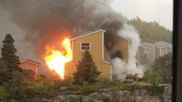 Firefighters were called to Shea Heights on Sunday to put out a fast-moving fire on Chafe's Avenue.