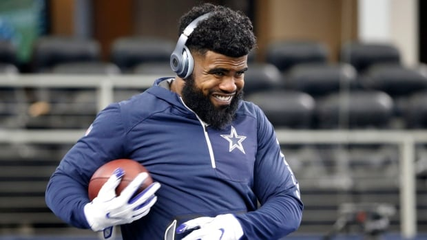 Dallas Cowboys running back Ezekiel Elliott rushed for 104 yards in the team's 19-3 win over the New York Giants on Sunday night.