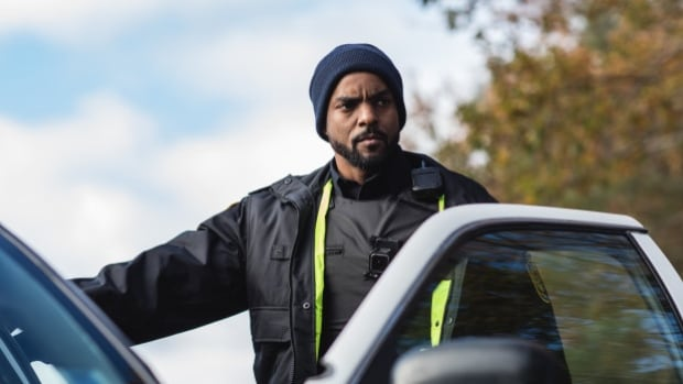 Toronto actor Ronnie Rowe Jr. plays the unnamed black police officer in 'Black Cop,' premiering at TIFF 2017.