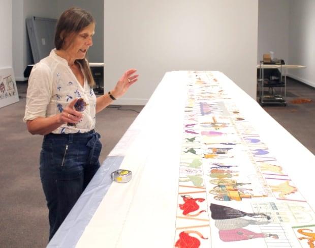 Sandra and One Panel