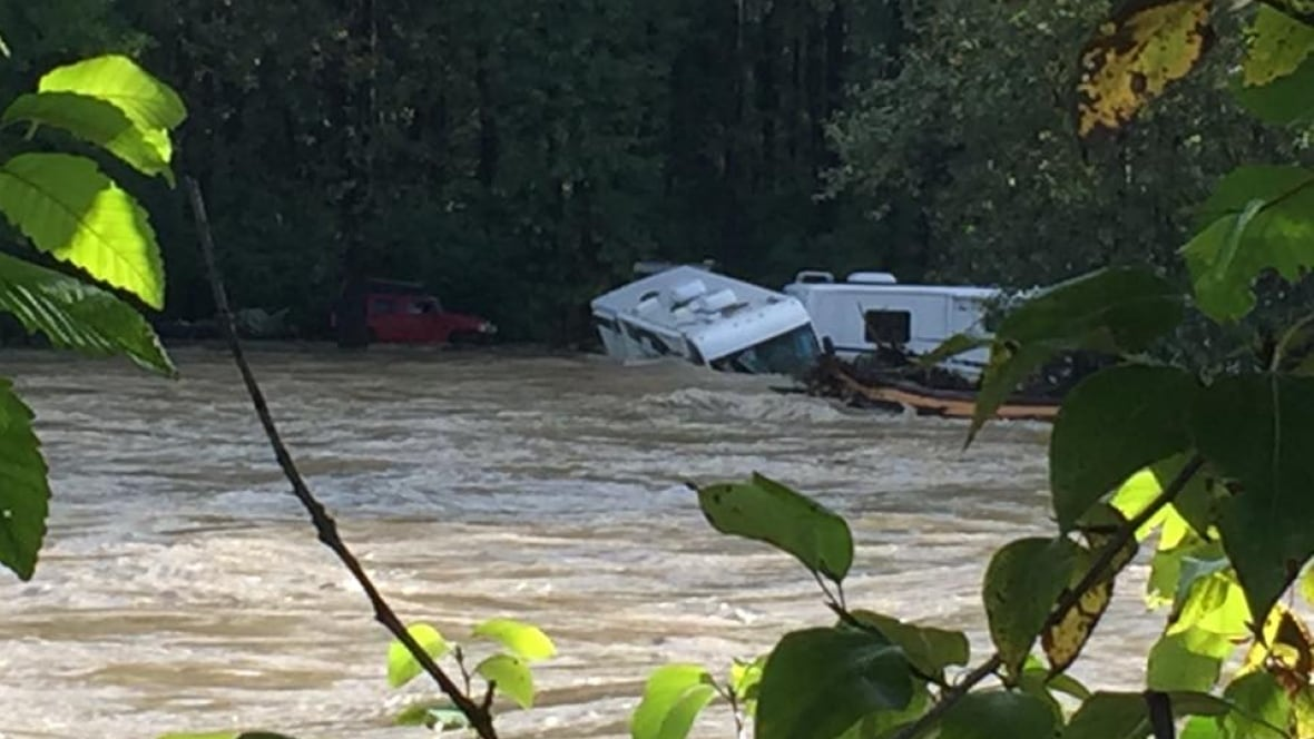 14 rescued from overnight flooding of Kitimat River  British Columbia  CBC
