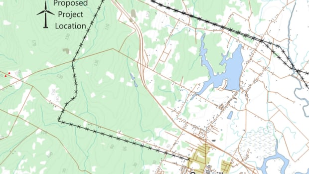 The wind farm would be located west of Sackville, towards Moncton, in the upper Walker Road area.