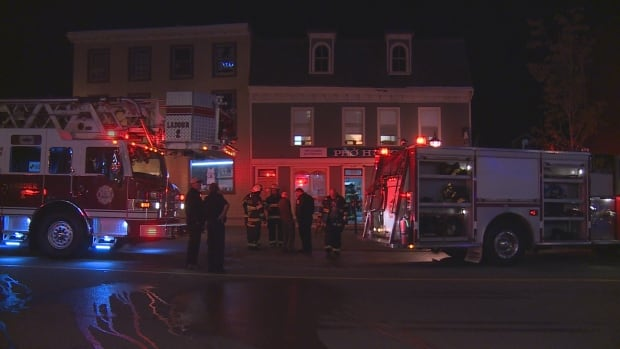 Firefighters were at the restaurant within three minutes of the alarm going off.