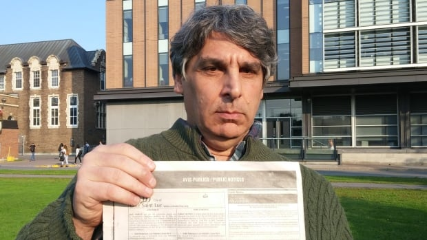 NDG resident Irwin Rapoport is frustrated that the borough took out an ad in a local newspaper saying residents had a right to protest Concordia's plan to build a new building, only to tell them that they can't actually force a referendum on it.