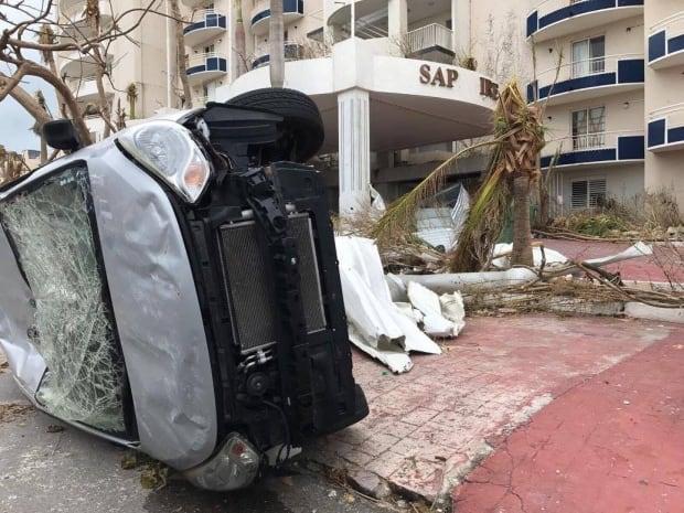 St. Martin damage hurricane Irma