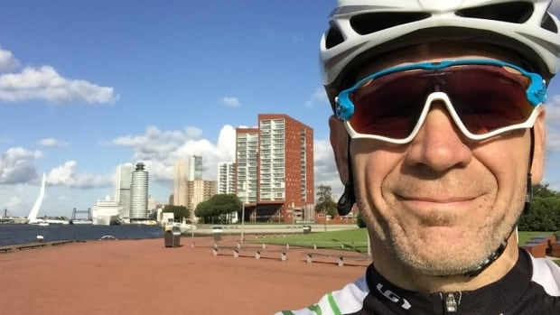 Mike Roy of Moncton says he's impressed with the cycling infrastructure in Rotterdam, where he's already taken his first ride in preparation for the ITU world triathlon championships.