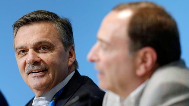 IIHF Rene Fasel, left, effectively ruled out the possibility of NHL participation at the  2018 Winter Olympics.