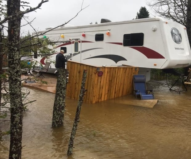 Flooding at Crow Hill RV park