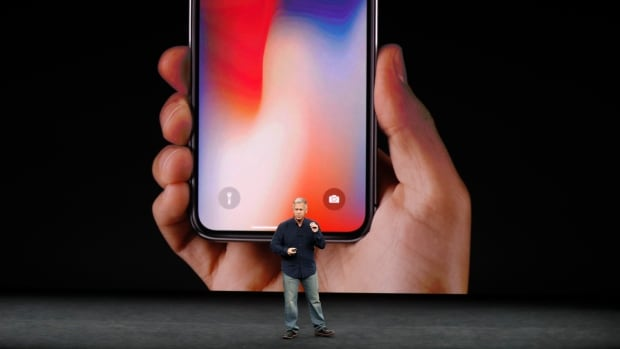 Apple senior vice-president of worldwide marketing, Phil Schiller, introduces the iPhone X during a launch event in Cupertino, California, on Tuesday, Sept. 12, 2017.