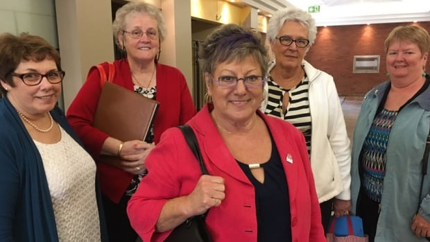 Cecile Cassista (centre) and other members of the Coalition for Seniors and Nursing Home Residents' Rights, were among those who attended the meeting with Health Department officials on Tuesday.