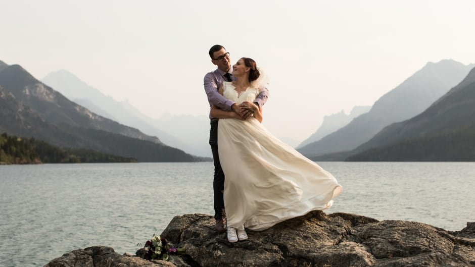 Rod and Tracy Leland were married earlier this month at a family cabin in Waterton Lakes National Park.