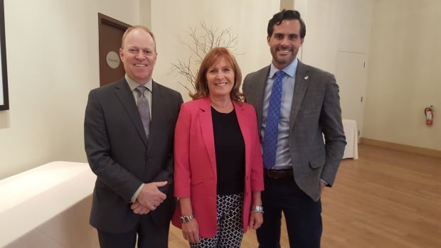 Geoff Jeffries, Tracy Nutt and Karl Baldauf addressed the Sudbury Chamber of Commerce recently on proposed changes to the province's minimum wage.