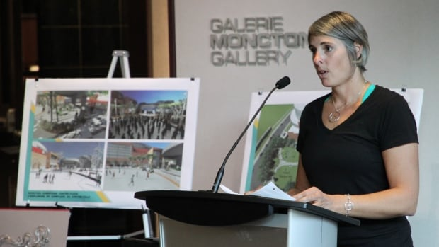 Guylaine Cyr presents her proposal for Moncton's latest piece of public art. The accepted proposal will receive up to $200,000 in funding.