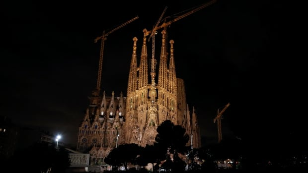 The Sagrada Familia basilica is seen in Tuesday in Barcelona.