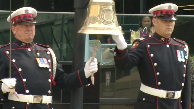 A bell rang once for each fallen firefighter in Calgary on Tuesday at a memorial ceremony.