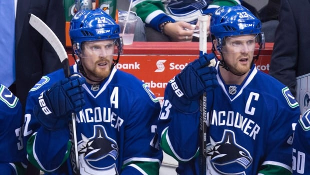 Vancouver Canucks' Daniel Sedin, left, and his twin brother Henrik remain committed to their team as they head into the final year of their contracts.