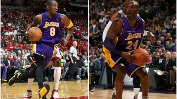 Kobe Bryant wore No. 8 from 1996-2006 and No. 24 from 2006-2016.