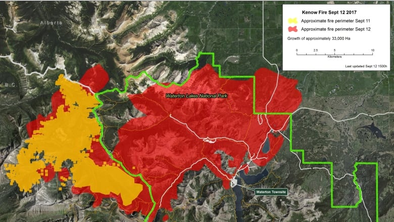 Alberta Wildfire Map The fire is out of control': Southwestern Alberta wildfire