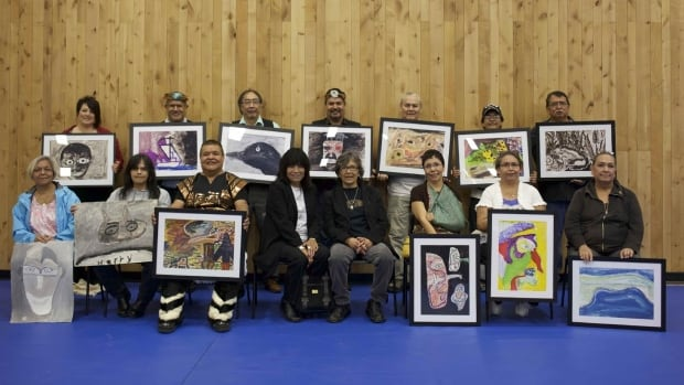 Most of the Alberni residential school paintings were returned to survivors at a ceremony in Port Alberni in 2013.