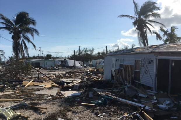 Islamorada Sea Breeze trailer park Florida Keys Hurricane Irma