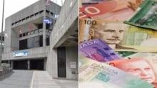 St. John's City hall cash money