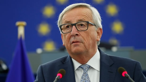 European Commission President Jean-Claude Juncker addresses the members of the European Parliament in Strasbourg, eastern France, in the so-called state of the union on Wednesday.