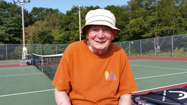 Bob Acorn has been playing tennis for 74 years.