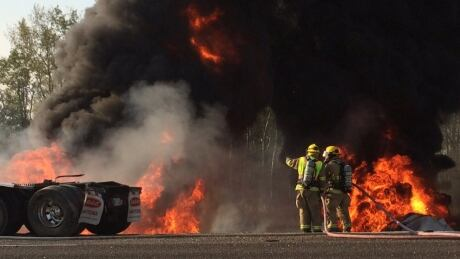 Fuel tanker fire RCMP
