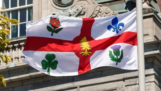 5854e1d4dee34 Montreal adds Iroquois symbol to flag, strips British general of street  name | CBC News