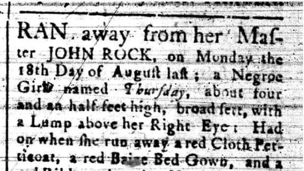 This ad ran in the Nova Scotia Gazette and the Weekly Chronicle on Sept. 1, 1772.