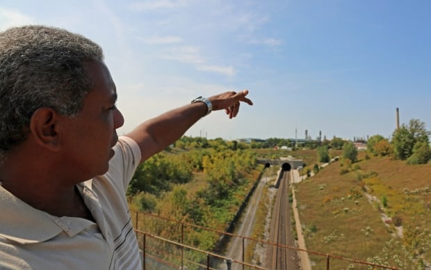 Miguel Padron, train tunnel crossing Sarnia