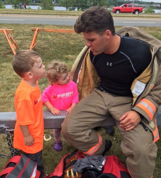 Alex Hillier, firefighter, two children