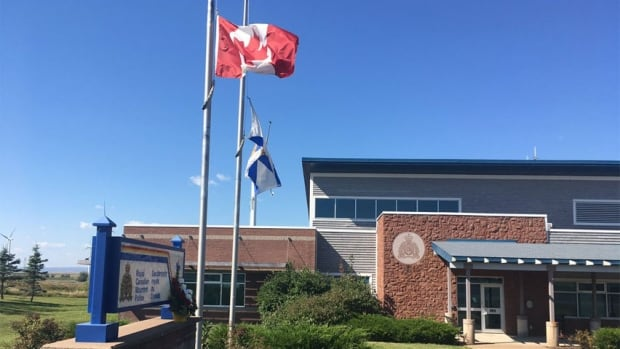 Amherst flag lowered Sept. 13, 2017