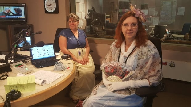 University of Regina professors Yvonne Petry and Susan Johnston don Austen-era inspired attire in-studio with CBC Radio One's The Morning Edition.