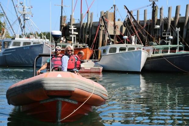 Campobello team on boat