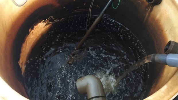 Water entering the Potlotek water-treatment system.