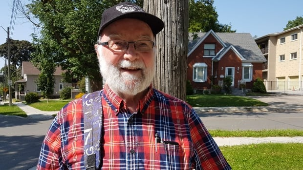 Sean O'Seasnain lives near Mount Hope Cemetery in Kitchener and says every few years, the bus stops get further and further from his home.
